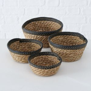 natural round seagrass basket set of four