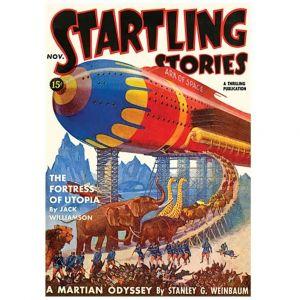 sci-fi Fortress of Utopia retro ark space ship book cover