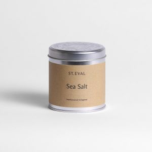 Sea salt candle tin by St Eval Cornwall stockist PurpleSunrise.com Southend