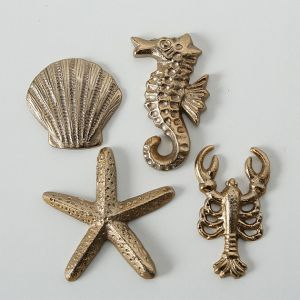 gold seaside seashore animal decoration