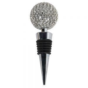 Silver Diamante Bottle Topper