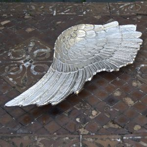 Large Silver Angel Wing Dish