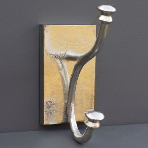 Antiqued Aluminium Large Single Coat Hook