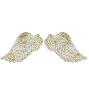 Antique White Angel Wing Wall Decor