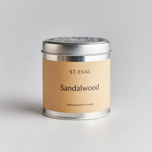 st eval sandalwood candle tin cornwall