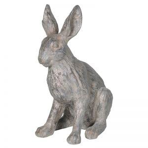 stone-effect-sitting-rabbit-ornament
