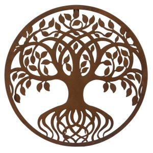 Round tree of life metal wall art by London Ornaments stockist PurpleSunrise.com in Southend