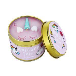 Unicorn Tales Bomb Cosmetics candle tin