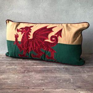 Large Welsh Dragon cushion