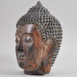 Vintage Brown Buddha Head Ornament