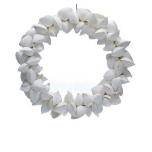 White Arca Shell Wreath by Gisela Graham