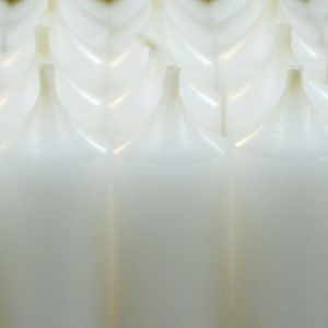 White high quality 25cm dinner candle from candle stockist PurpleSunrise.com Southend home and gift