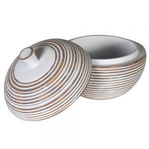 White Washed Wood Effect Storage Jar