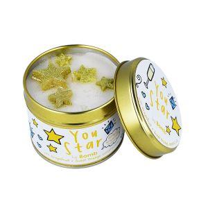 You Star Bomb Cosmetics candle tin
