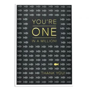 You're One In a Million Thank You Card by Think of Me Designs online at Under the Sun Southend