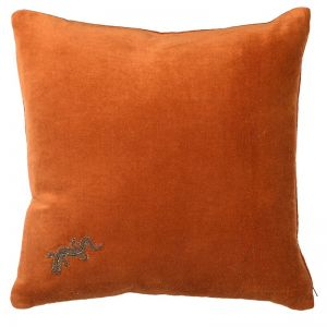 Gecko Embroidered Cushion Cover