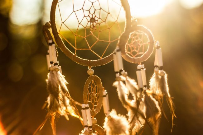 Dream catchers make great spiritual and mystic decorations