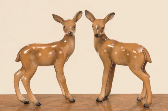 bambi fallow deer ornaments
