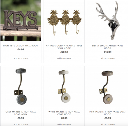 hooks and drawer pulls