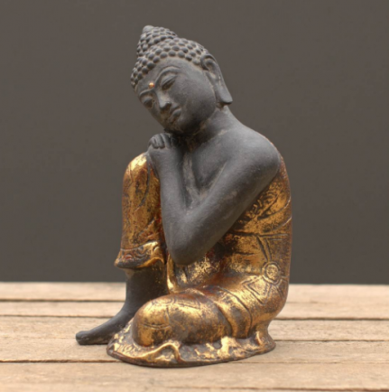 black gold buddha
