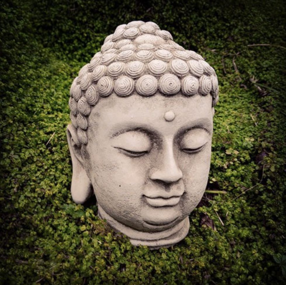 Thai style outdoor Buddha head