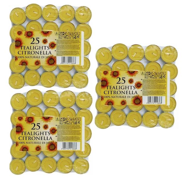 Great value multi pack of Price's citronella tealight candles.