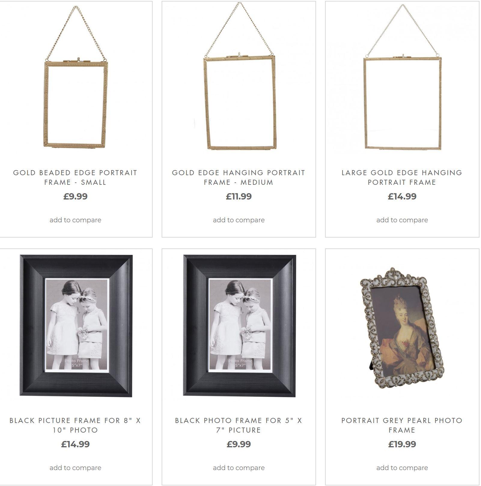 Ornamental Photo Frames