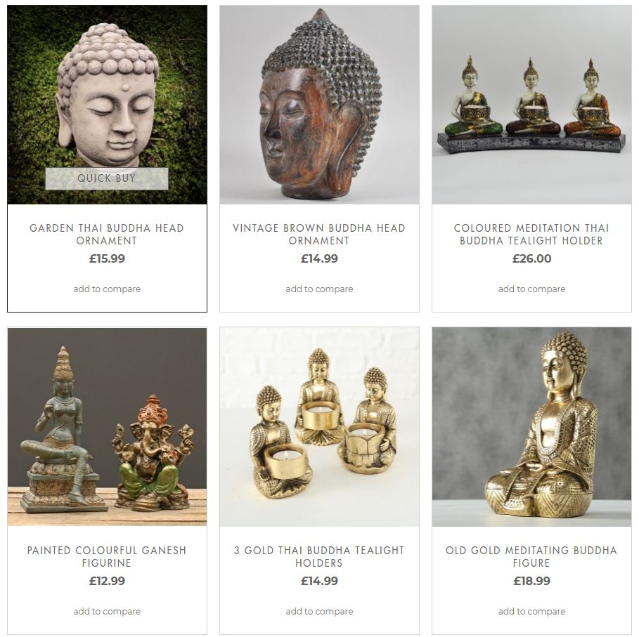 Buddha ornaments and statue