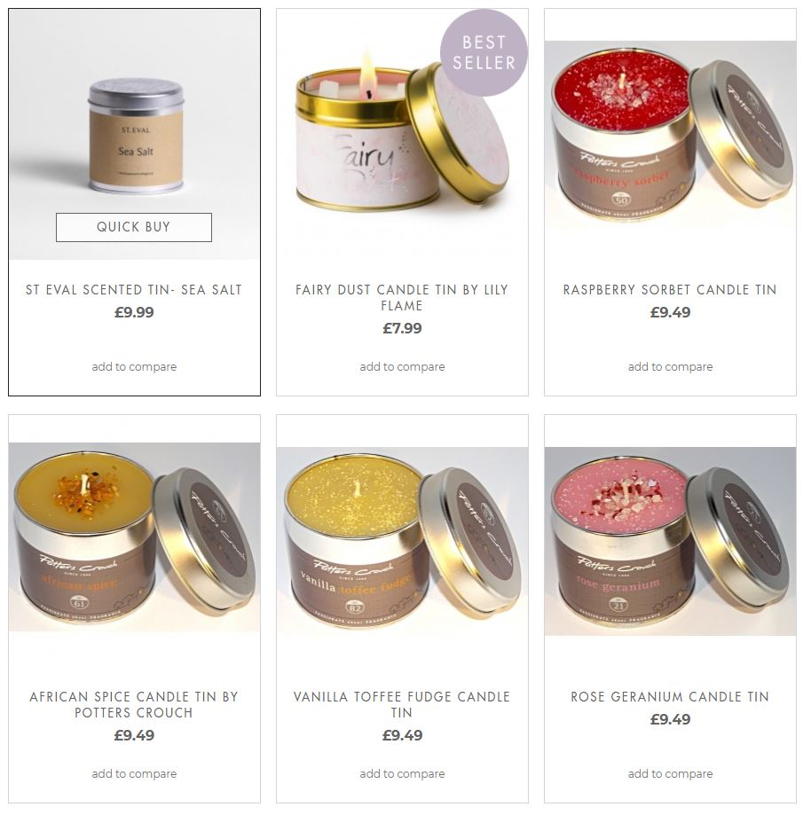 Scented Candle Tins